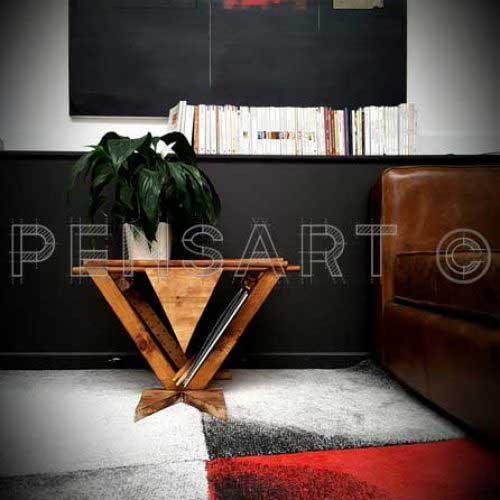 Création en bois- Table de chevet design