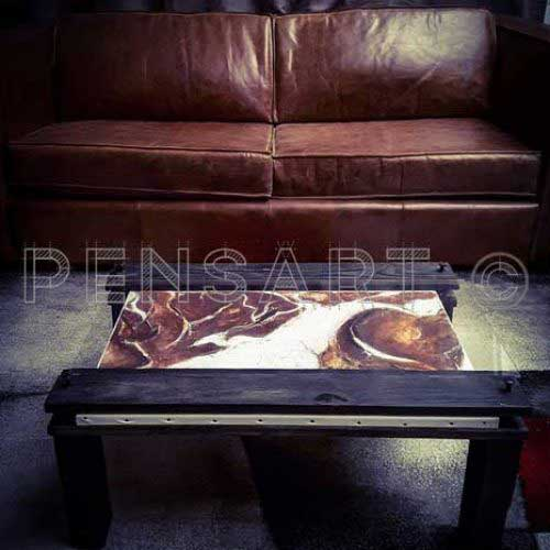 table-basse-art abstrait