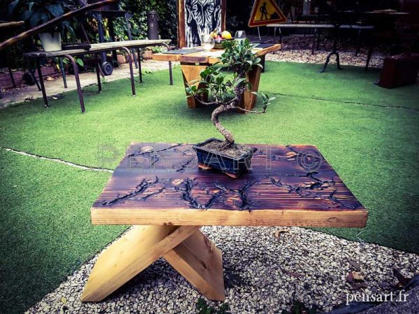 Photographie de table basse