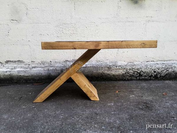 Mobilier design- Table basse en bois de pin massif