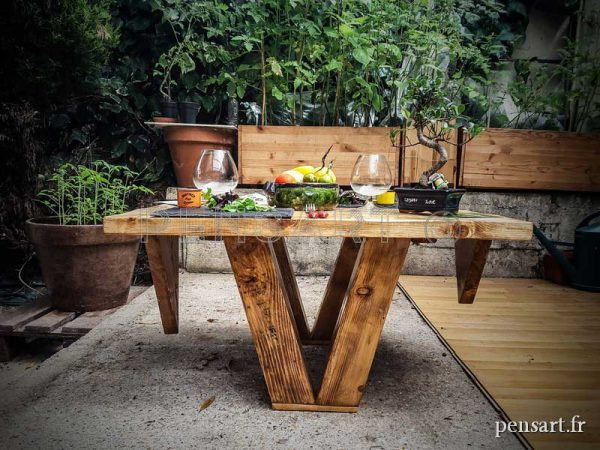 Table basse de jardin