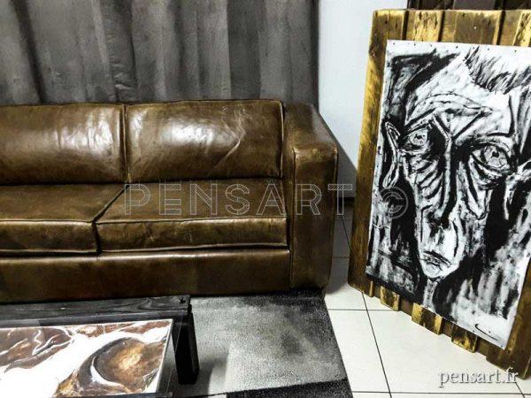 Peinture sur toile- Palette en bois