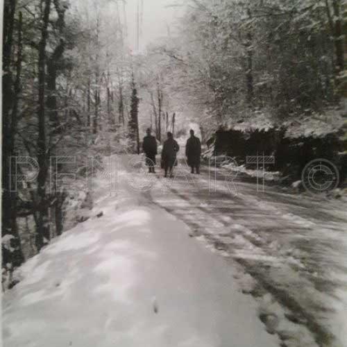 Des soldats dans la neige- Photographie ancienne