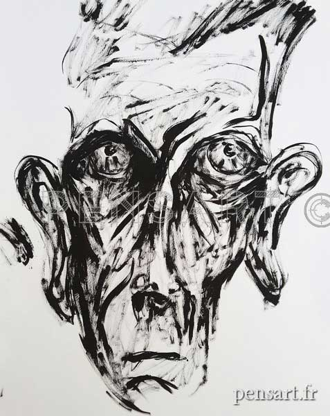 Peinture Samuel Beckett- Laureline Dalmau