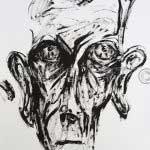 Peinture hommage à Beckett