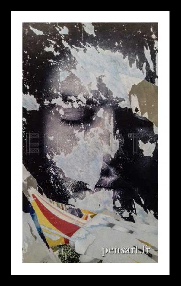photographie visage d'un homme- Art urbain Paris