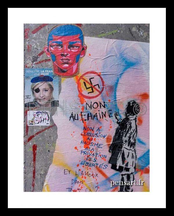 Street art Paris- Non au FN