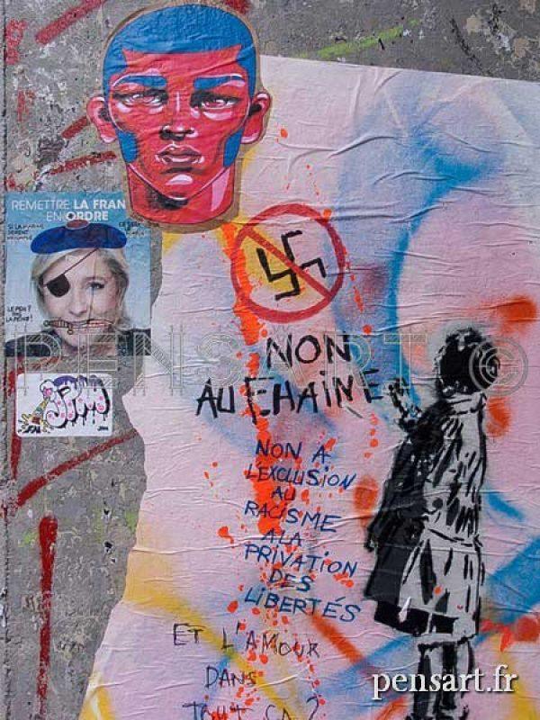 photographie urbaine- Affiche politique
