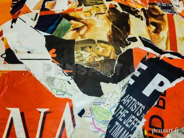 Tableaux- collage sur toile