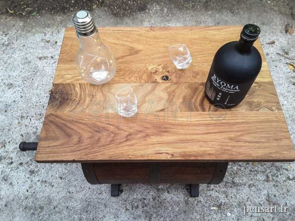 Table basse ancienne bois de chêne