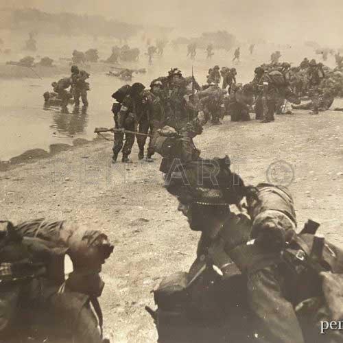 Photographie anonyme d'un groupe de soldats