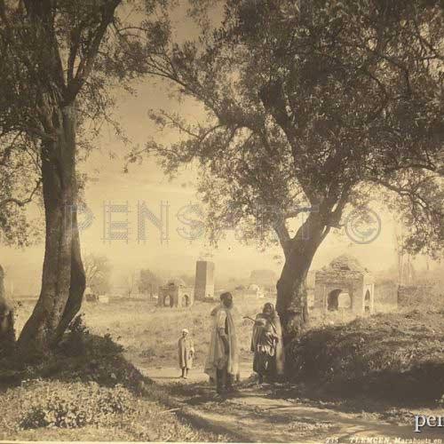 Photo noir et blanc- Marabouts en ruine en Algérie