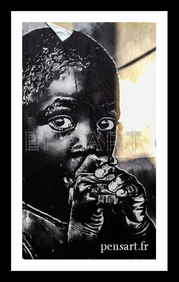 Photo enfant- Affiche Street art Paris