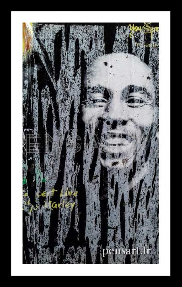 Photo d'une affiche de Bob Marley