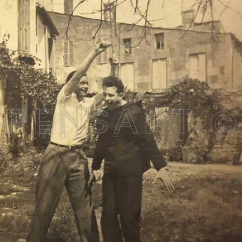 Le pendu- Photo vintage