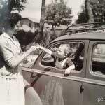 Un enfant et sa mère- Photo vintage