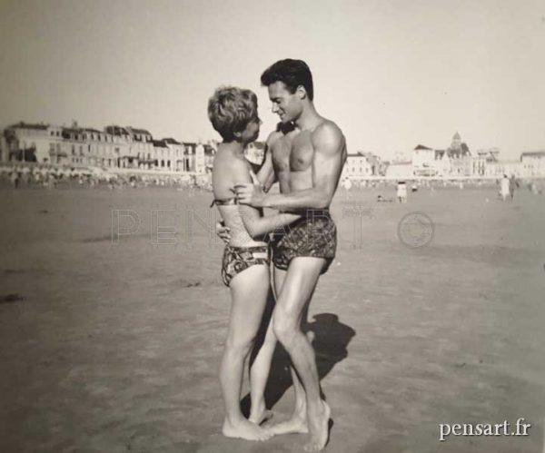 Les amoureux- Photo noir et blanc