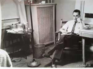 L'écrivain- Photo noir et blanc