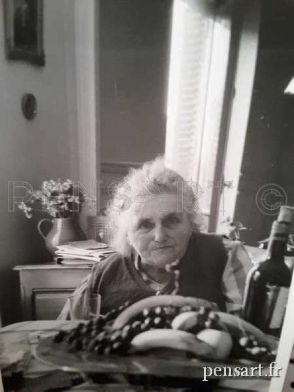 Vieille dame- Photographie noir et blanc