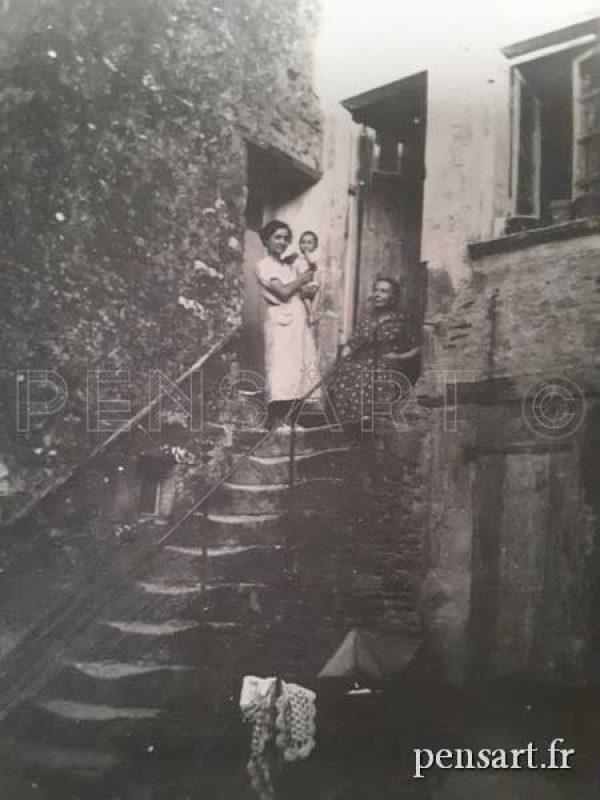 Photo vintage d'une famille