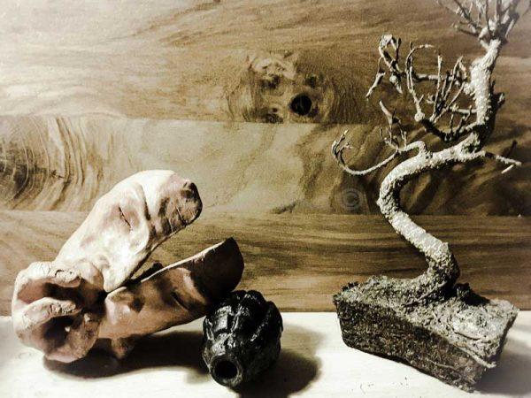 Sculpture en terre d'argile