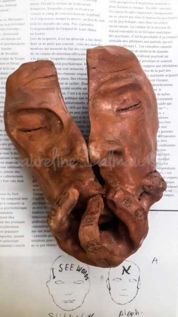 Sculpture- Visage fendu