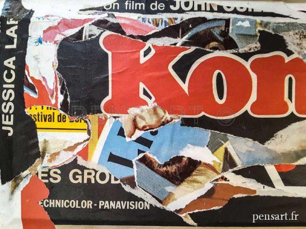 Collage avec affiche de cinéma