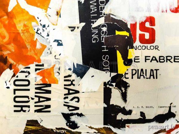 Affiches déchirées- Collage