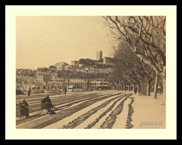 Le port de Cannes- Photo ancienne