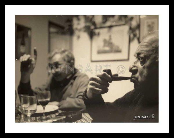 L'homme à la pipe- Photographie anonyme