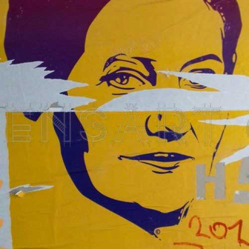 Photo Simone Veil - Affiche Paris
