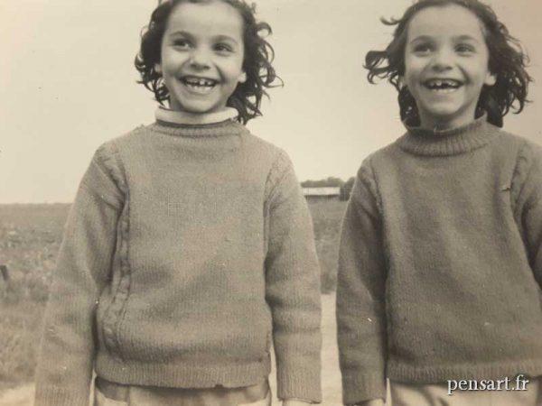 Les jumelles- Photo ancienne