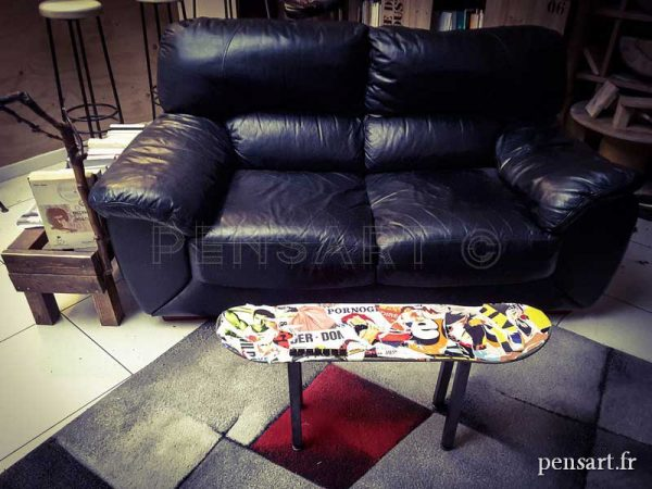 Salon- skateboard table basse