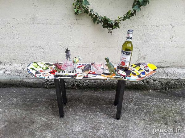 Mobilier- table basse art urbain
