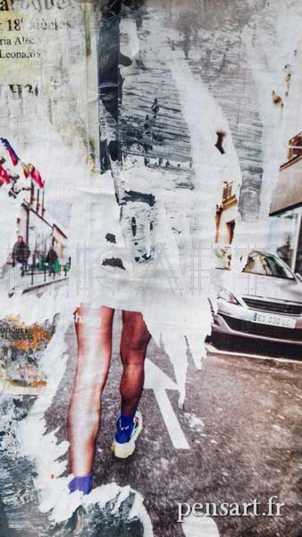 Photo piéton -Affiche Paris