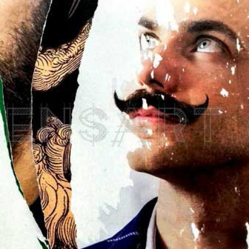 affiche-dechiree-homme-a-moustache