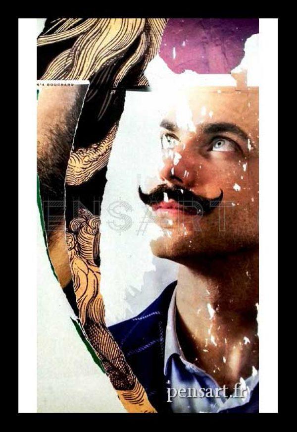 photo-affiche-dechiree-paris-homme-a-moustache