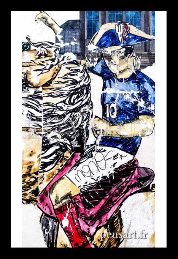 photo-art-urbain-paris-affiche-dechiree-football