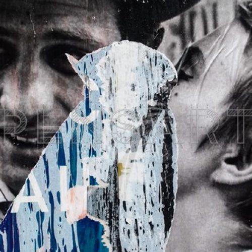 Photo affiche déchirée- A bout de souffle- Godard