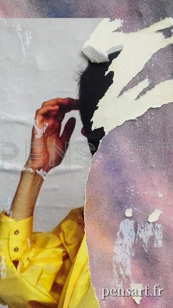 Affiche déchirée- Chemise jaune