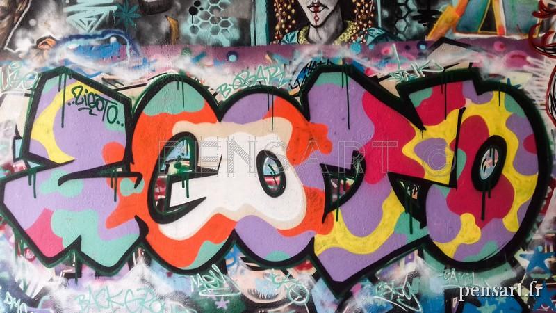 Street art- Mur tagué