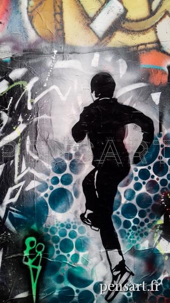 Street art- Courir