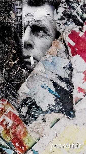 Affiche déchirée- Beckett