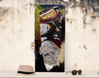 Affiche déchirée- Basquiat against the machine